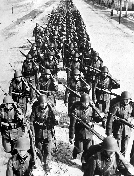 polish infantry on the march 1939