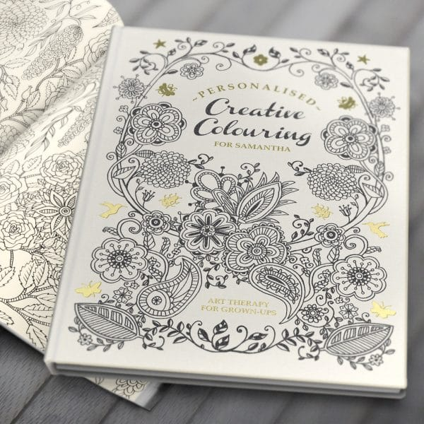 personalised colouring book