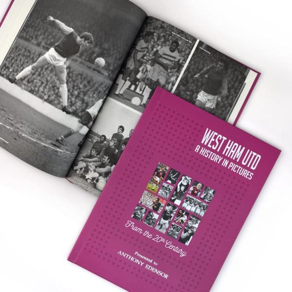personalised west ham book of photos