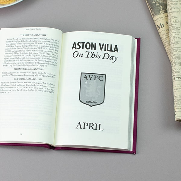 Aston Villa On This Day Book