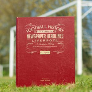 Liverpool Football Newspaper Book