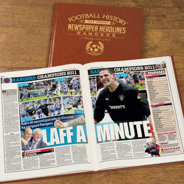 rangers newspaper headlines book