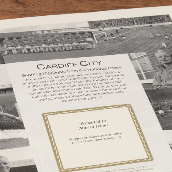 cardiff city book