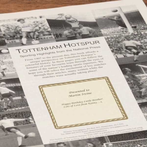 personalised tottenham book