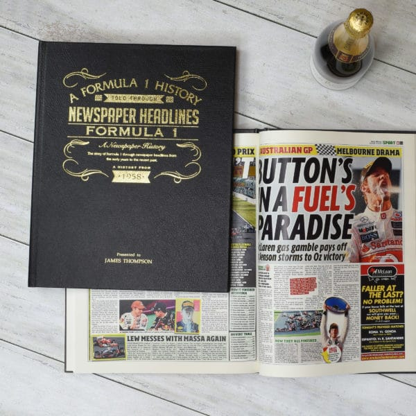 f1 newspaper book