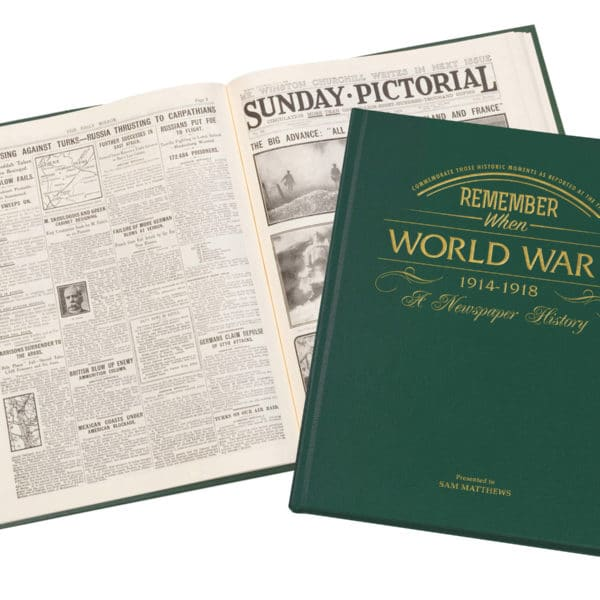 world war one newspaper book