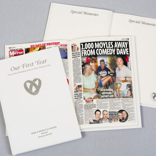 Our First Year anniversary memory book