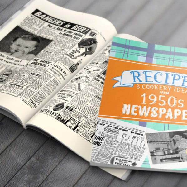 1950s Recipe newspaper book
