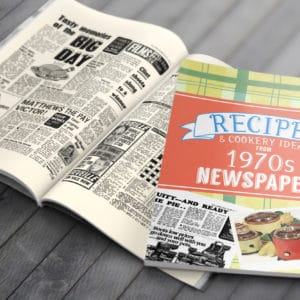 1970s Recipe newspaper book