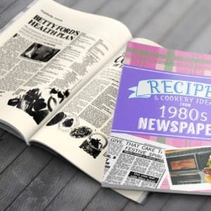 1980s Recipe newspaper book