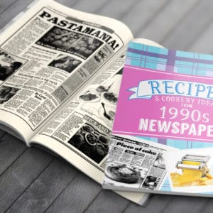 1990s Recipe newspaper book