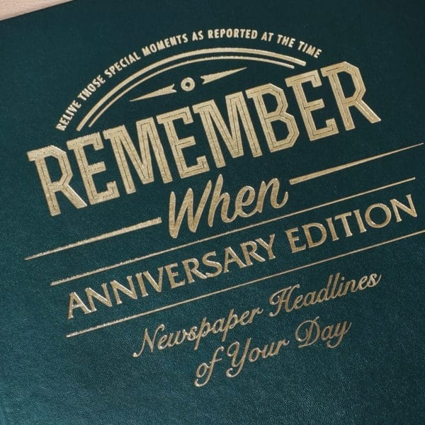 personalised anniversary newspaper book