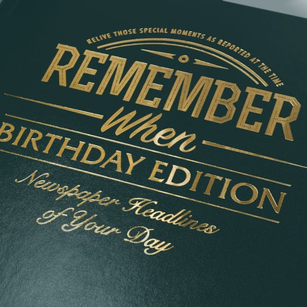 personalized Birthday Edition News book