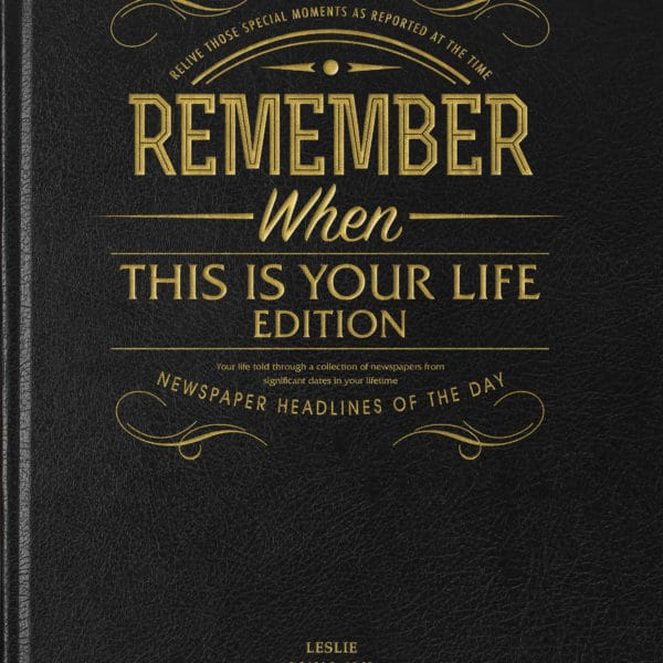This Is Your Life Newspaper collection book