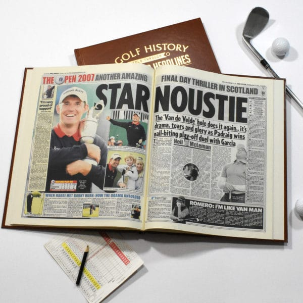 British Open Golf Newspaper Book