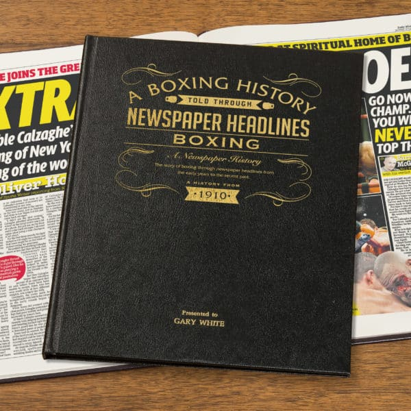 History of Boxing Newspaper Book