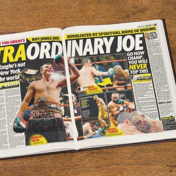 Boxing Newspaper Book