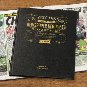 Rugby Union Gloucester Newspaper Book