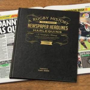 Rugby Union Harlequins Newspaper Book