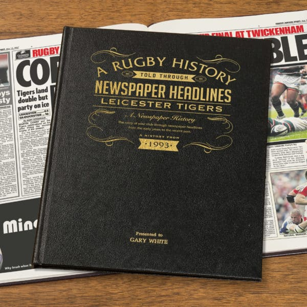 Personalised Leicester Tigers History Book