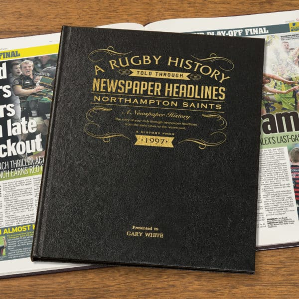 Rugby Union Northampton Newspaper Book