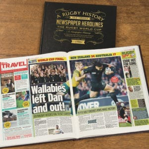 Rugby World Cup Newspaper Book