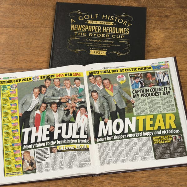 Ryder Cup Newspaper Book
