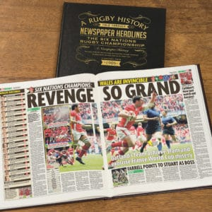 Six Nations Rugby Newspaper Book