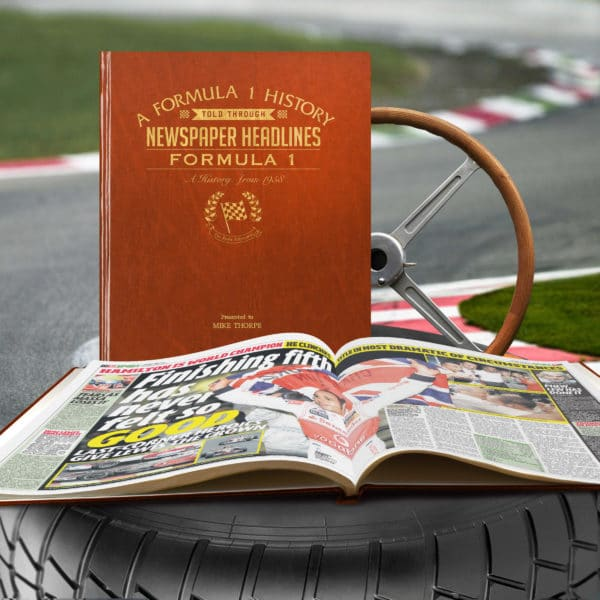 Formula 1 Newspaper Book
