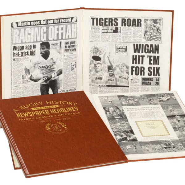 League Cup Rugby Newspaper Book