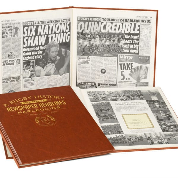 Harlequins Rugby Newspaper Book