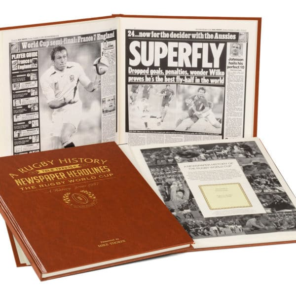 rugby world cup newspaper history book