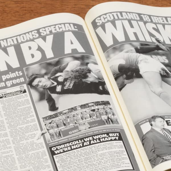 British Rugby 6 nations Newspaper Book