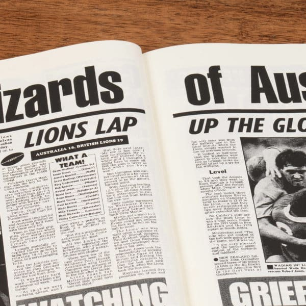 British Rugby Newspaper Book