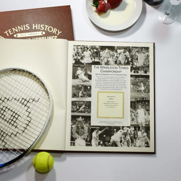 wimbledon tennis newspaper book