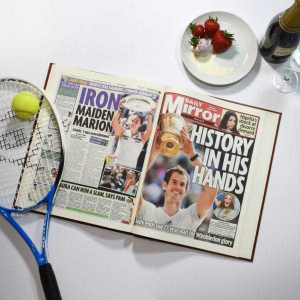 wimbledon newspaper book
