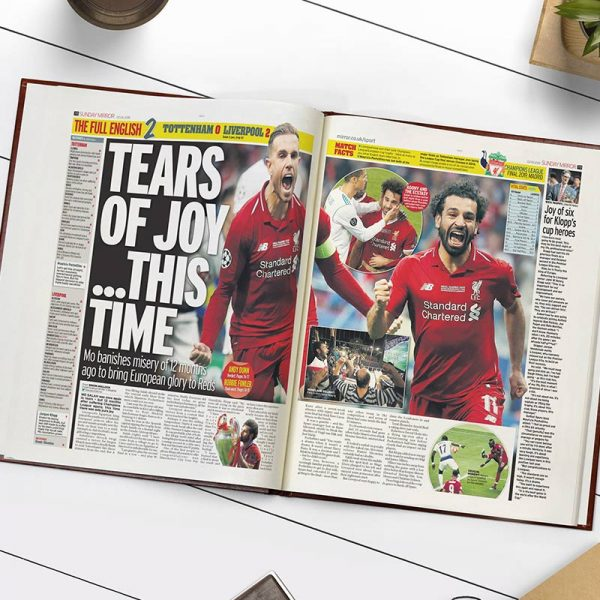 Personalised Liverpool Football Book