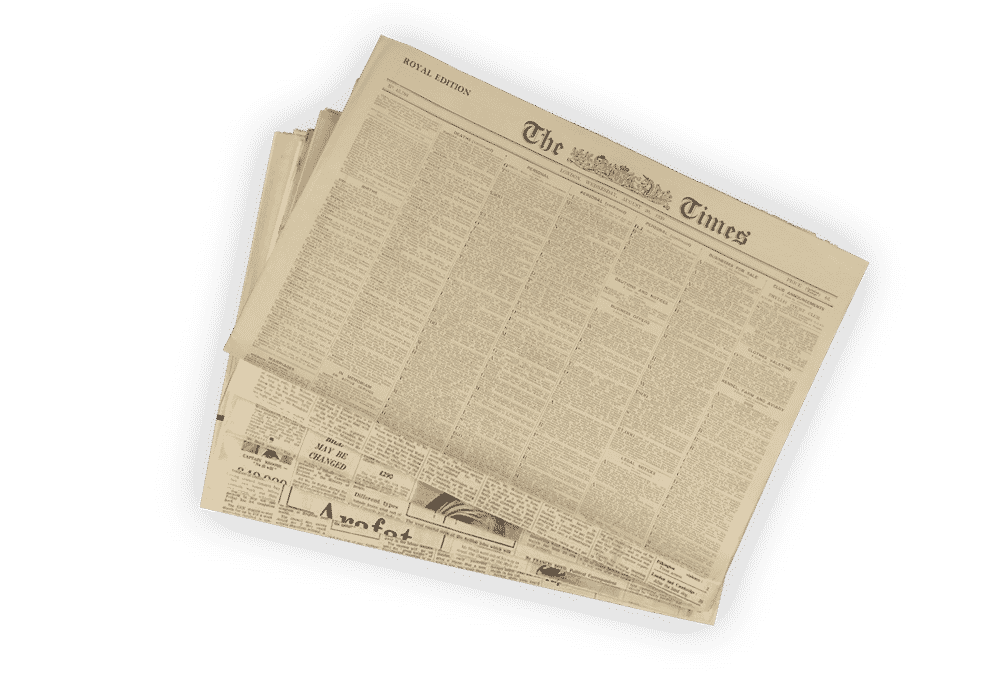 1901 Original Newspapers