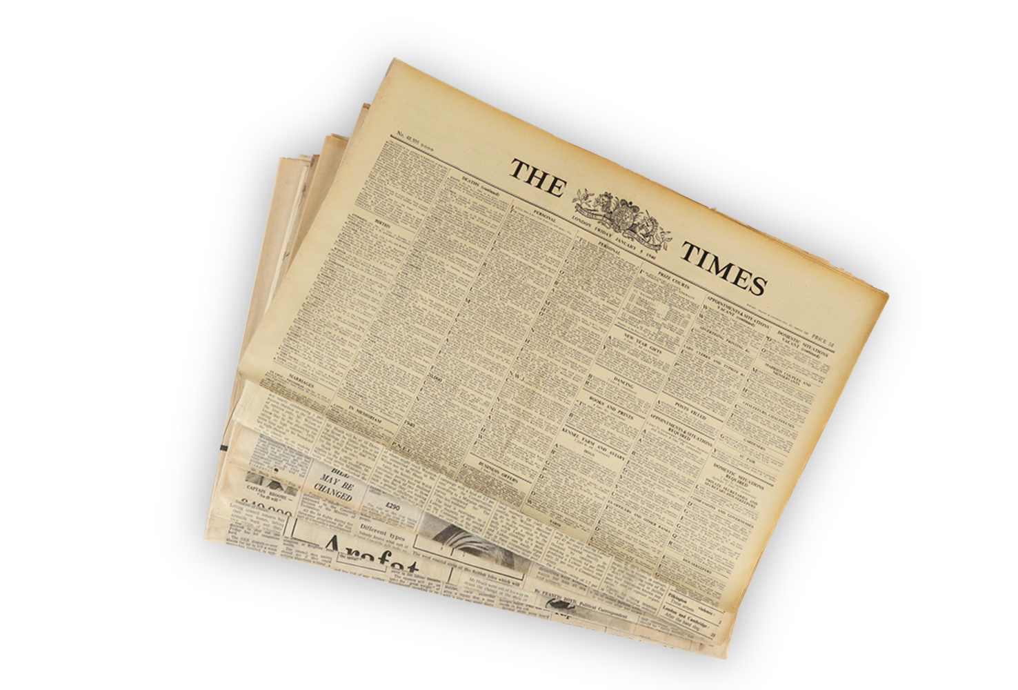 1940s Original Newspaper Gift