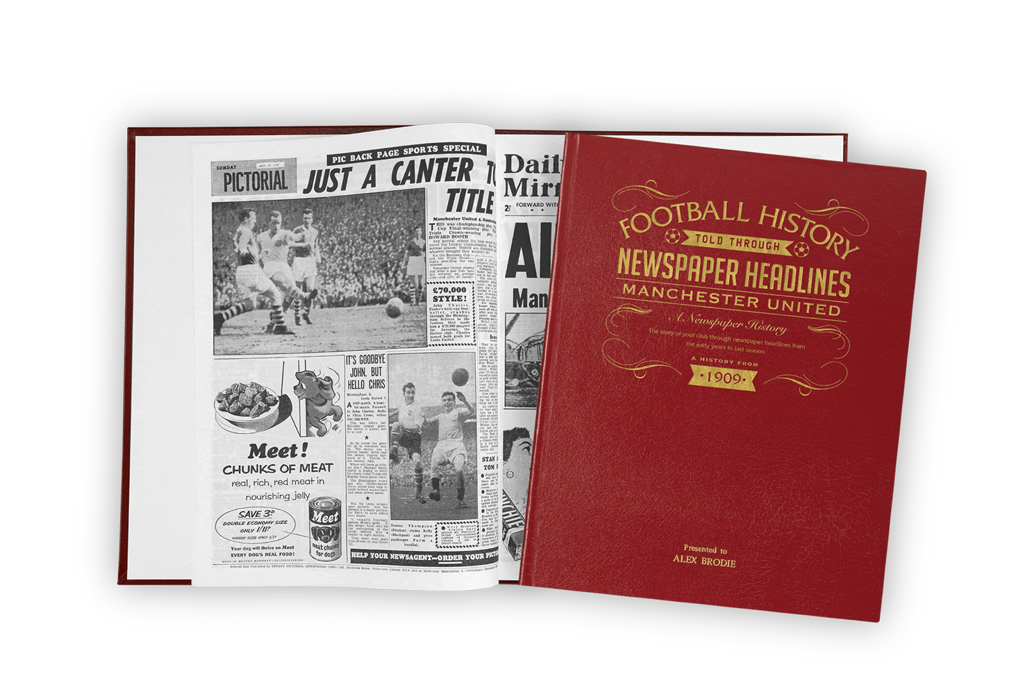 Personalised Sports History Books (Football)