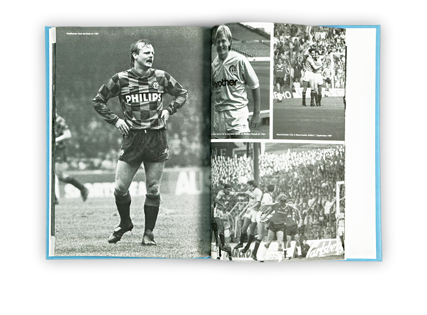 Football pictures history book