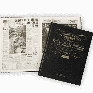 Personalised War Newspaper Books