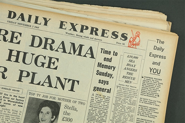 daily express back issues