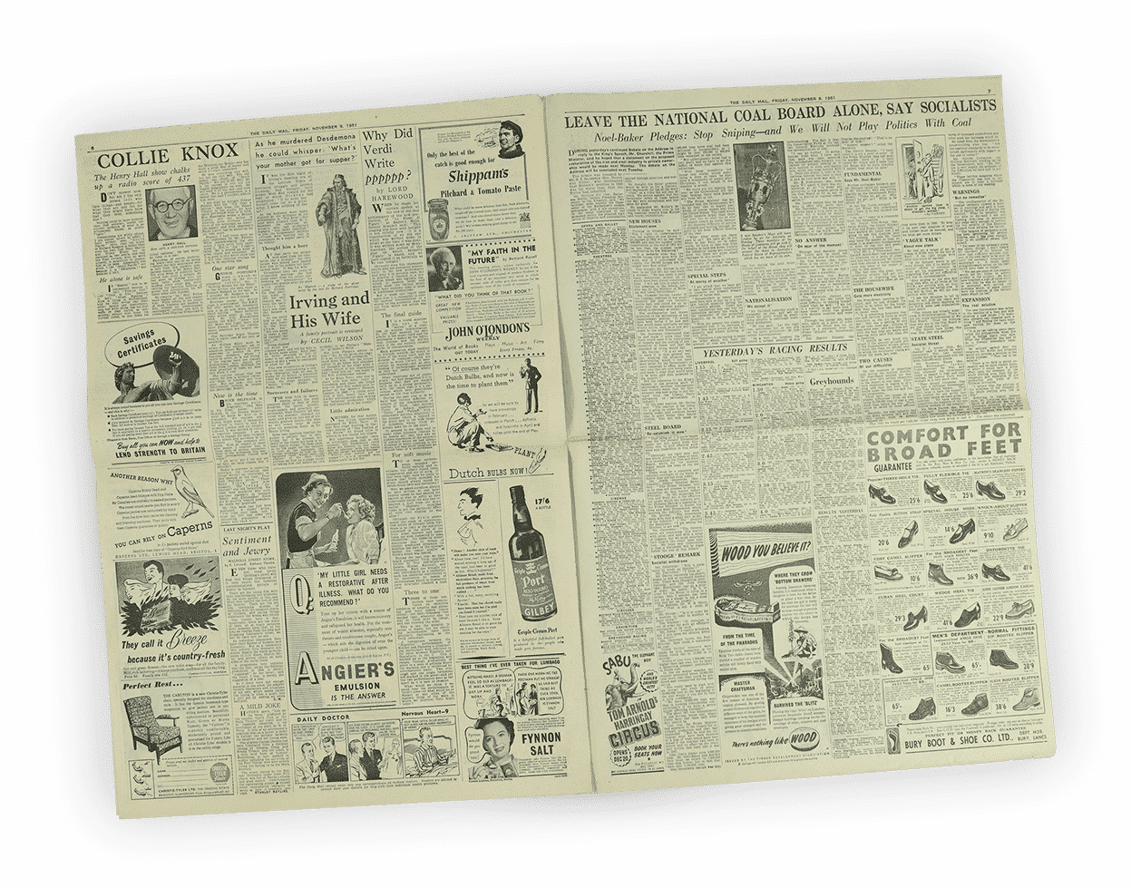 Original 1961 Newspapers