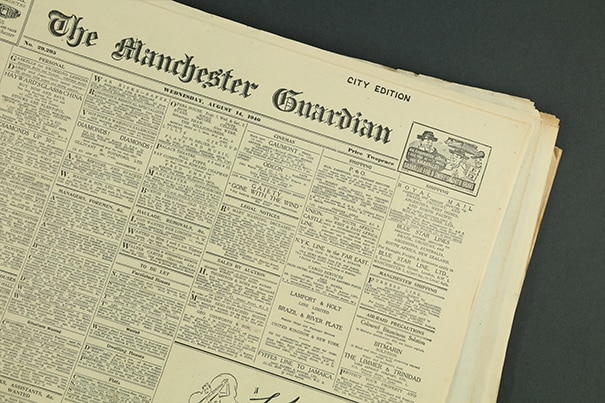 the manchester guardian original newspaper archive