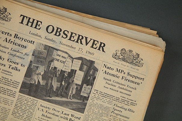 the observer original newspaper archive