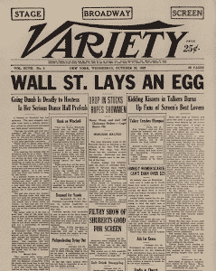 wall street lays an egg