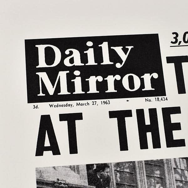 Daily Mirror close up