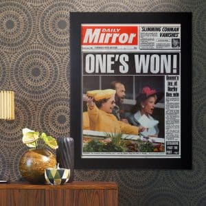 Front Page Newspaper Reprint