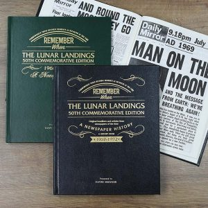 Lunar Landing Newspaper Book